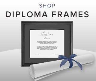 Picture of diploma frame and scroll. Click to shop diploma frames.